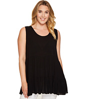 Karen Kane Plus - Plus Size Sleeveless Double Ruffle Top