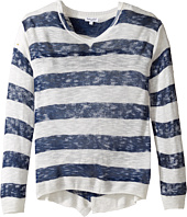 Splendid Littles - Printed Stripe Loose Knit Sweater (Big Kids)