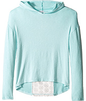 Splendid Littles - Long Sleeve Hoodie with Lace Back (Big Kids)