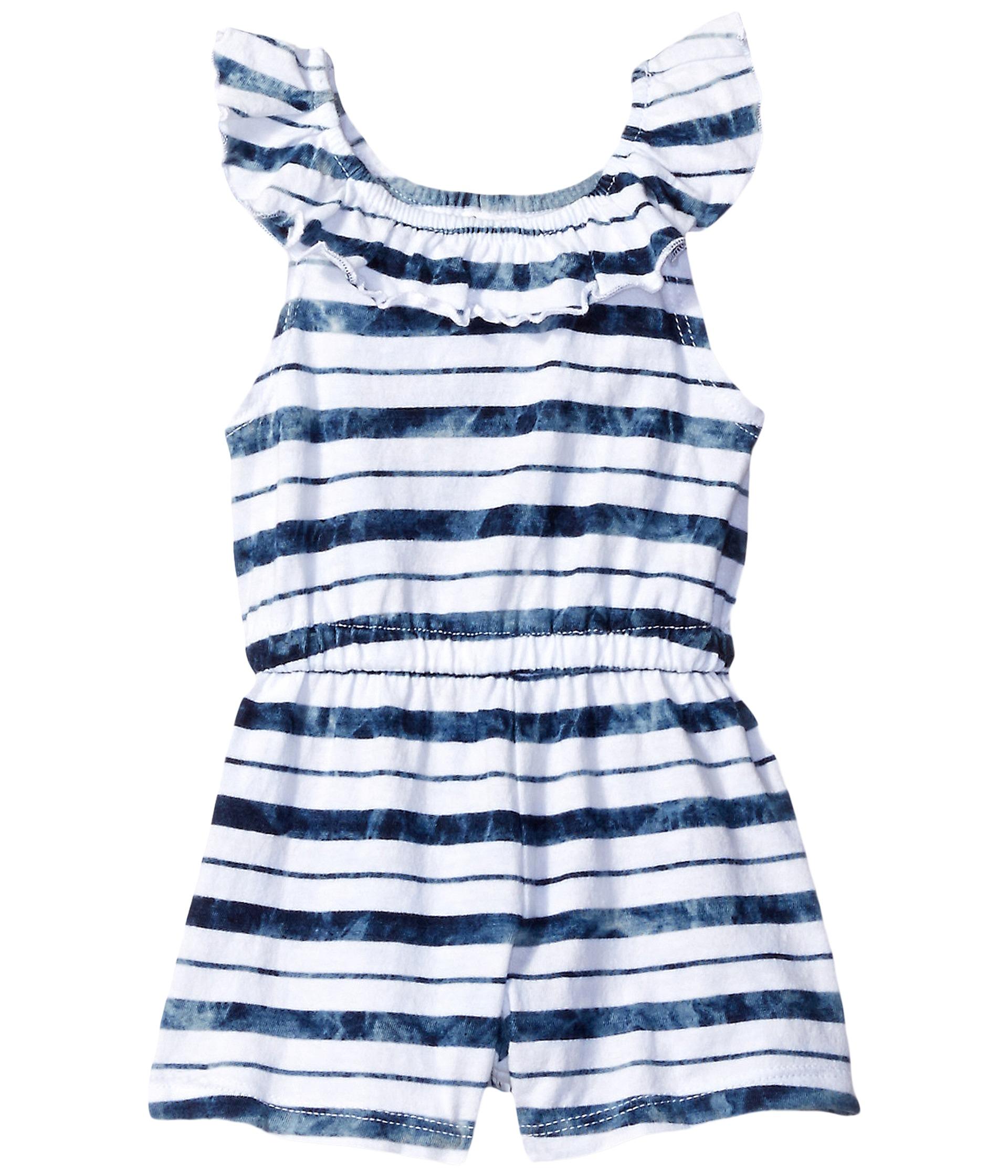 Splendid littles indigo striped tie dye peasant romper for Splendid infant