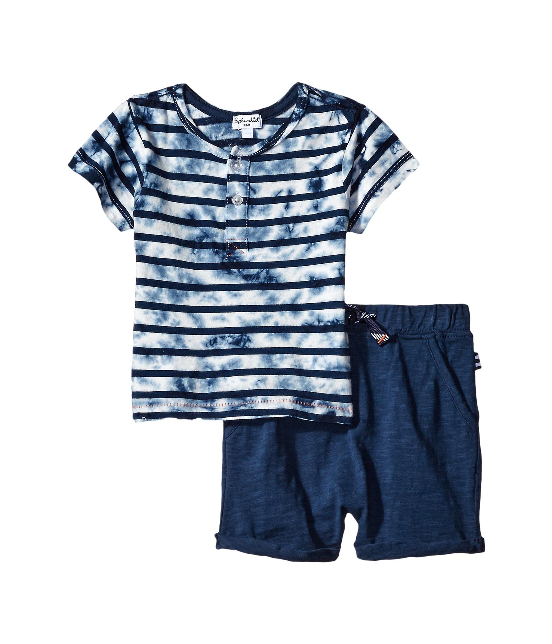 Splendid littles tie dye short sleeve shorts set infant for Splendid infant