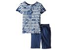Splendid Littles - Tie-Dye Short Sleeve Shorts Set (Little Kids)