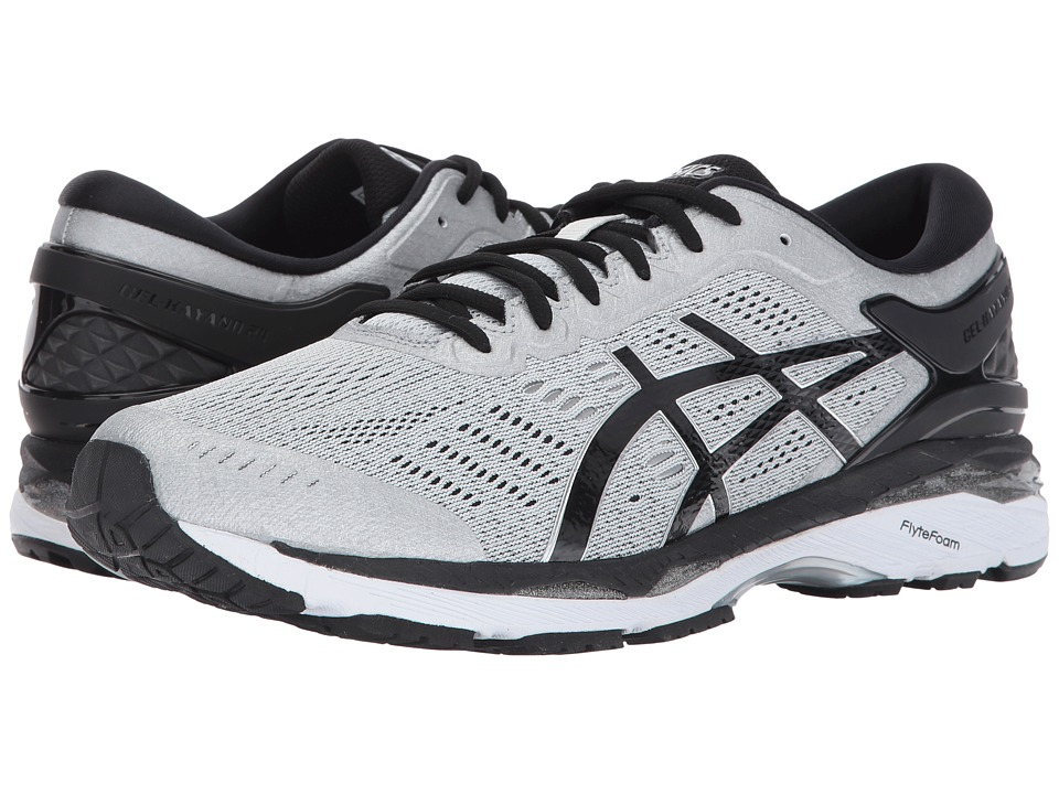 ASICS - GEL-Kayano(r) 24 (Silver/Black/Mid Grey) Mens Running Shoes