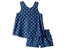 Splendid Littles - Printed Denim Cross Back Tank Set (Little Kids)