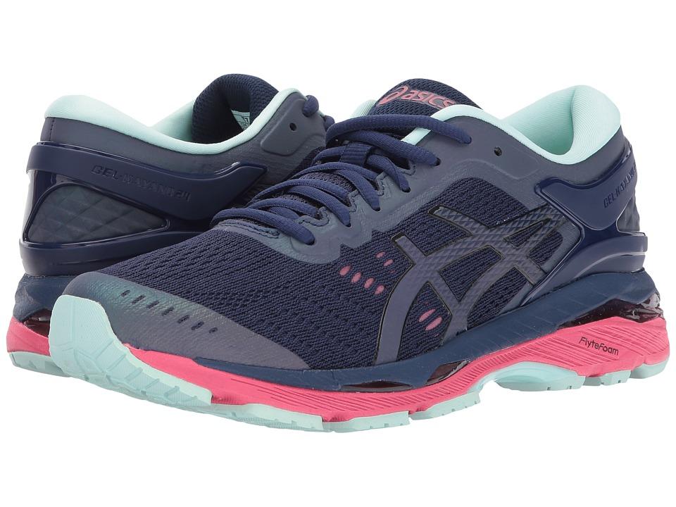 ASICS - GEL-Kayano(r) 24 Lite-Show (Indigo Blue/Black/Reflective) Womens Running Shoes