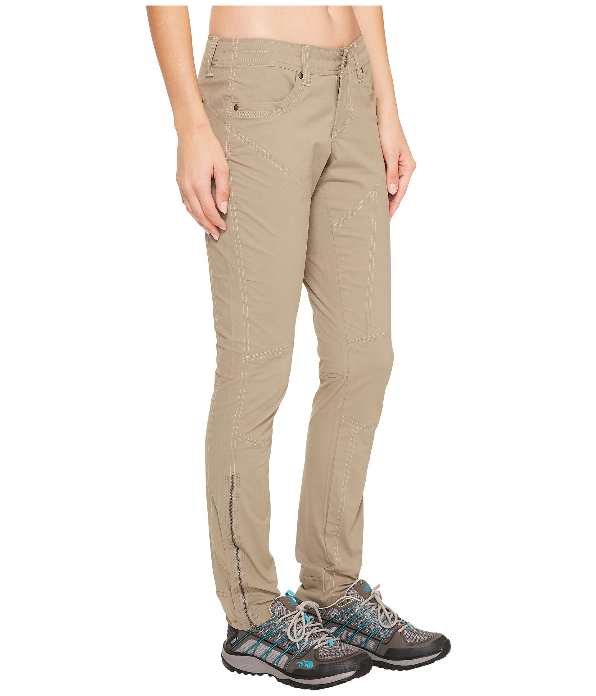 FEATURES. The KÜHL INSPIRATR ™ ANKLE ZIP PANT features ALPËNKLOTH ™ fabric for performance and style. For added strength and durability, the luxury stretch twill is stitched with the same nylon thread used in climbing harnesses.
