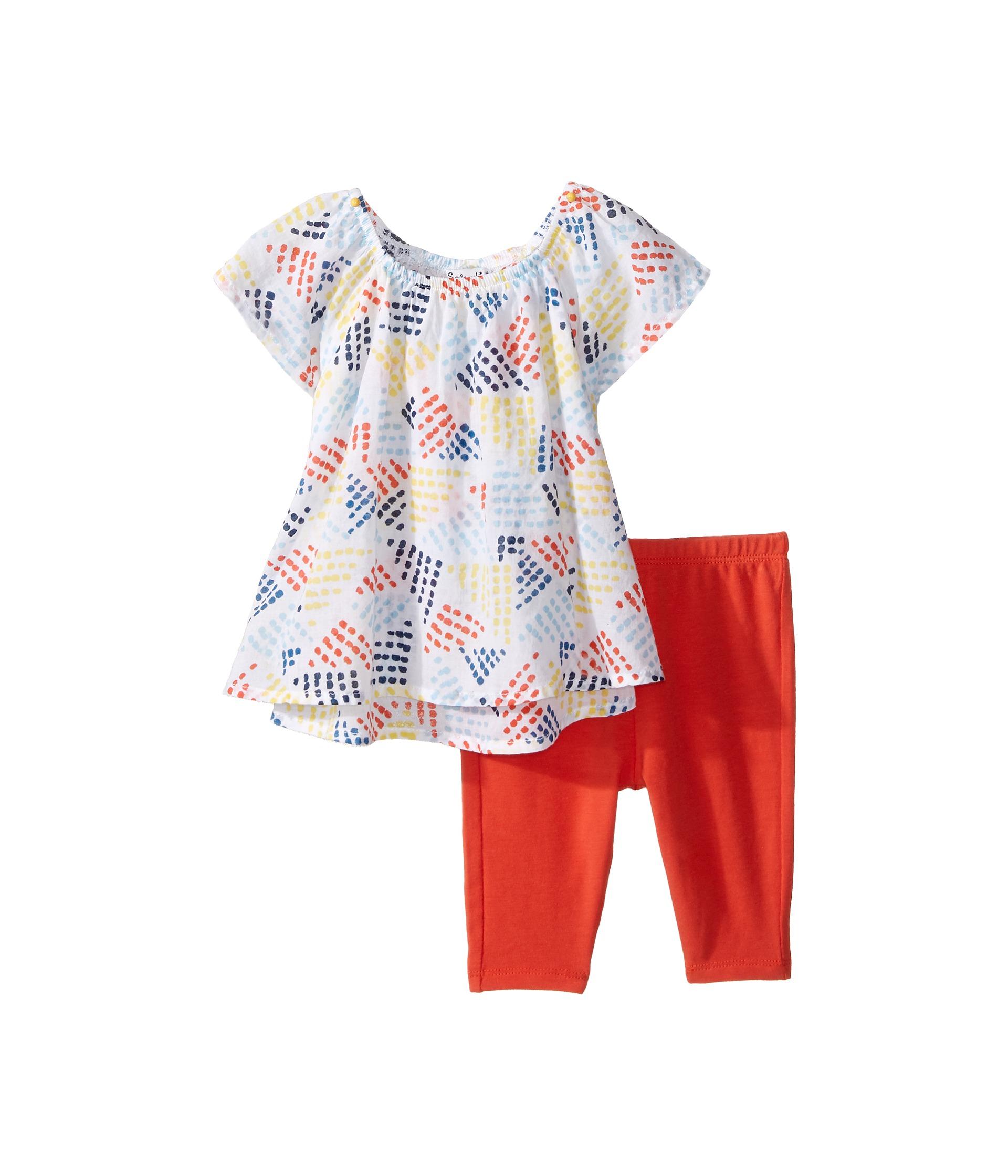 Splendid littles all over print with solid leggings set for Splendid infant