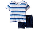 Splendid Littles - Ombre Printed Stripe Shorts Set (Infant)
