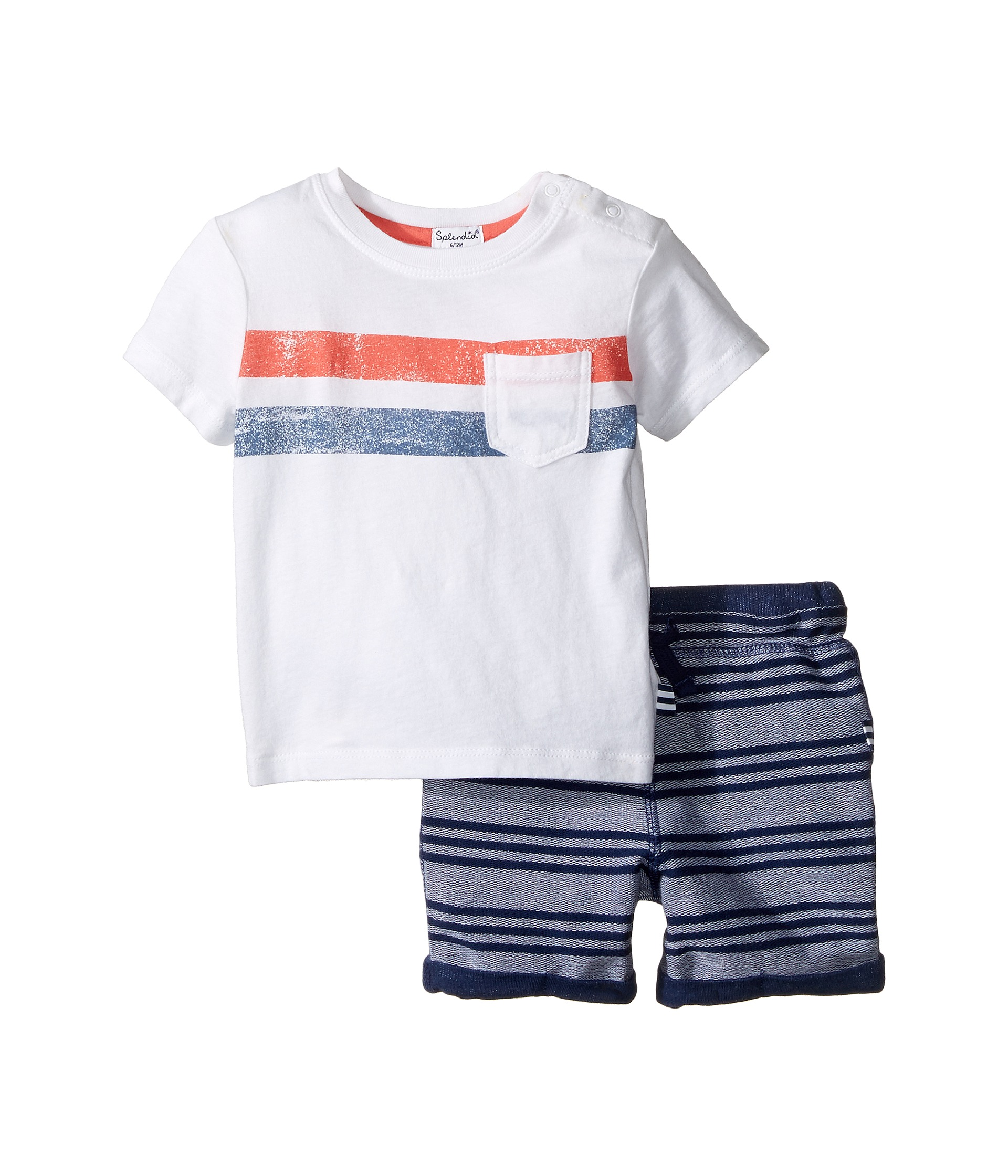 Splendid littles pocket tee striped shorts set infant for Splendid infant
