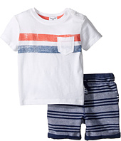 Splendid Littles - Pocket Tee Striped Shorts Set (Infant)