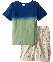 Splendid Littles - Dip-Dye Tee with Printed Chili Pepper Shorts Set (Little Kids/Big Kids)