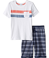 Splendid Littles - Pocket Tee Striped Shorts Set (Little Kids/Big Kids)