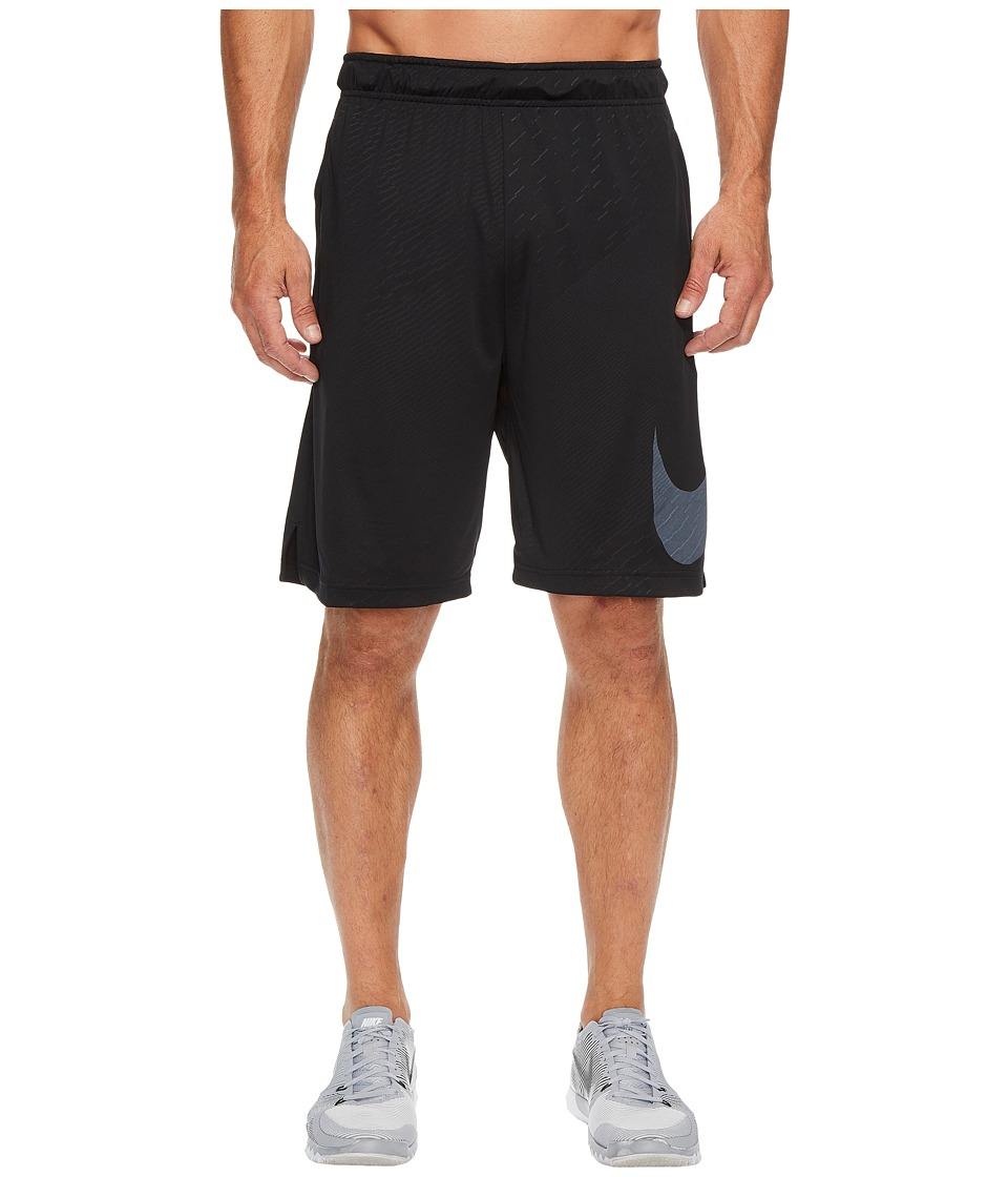 Nike Dry Embossed Training Short (Black/White) Men