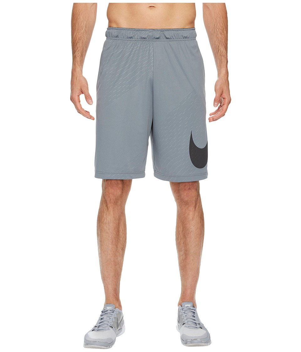 Nike Dry Embossed Training Short (Cool Grey/Black) Men