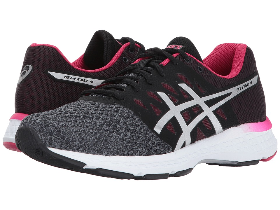ASICS GEL-Exalt 4 (Carbon/Silver/Cosmo Pink) Women's Running Shoes