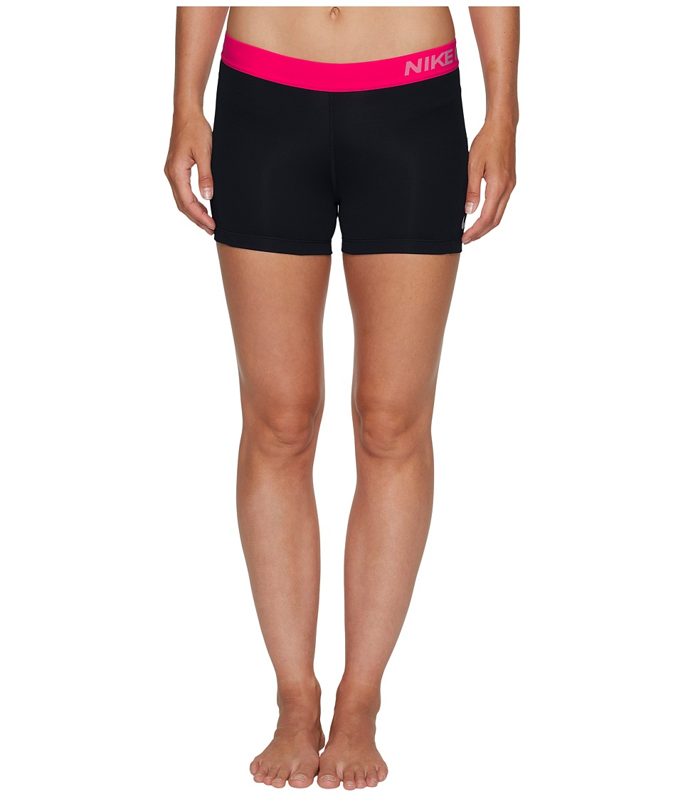 Nike Pro 3 Cool Compression Training Short (Black/Racer Pink/White) Women