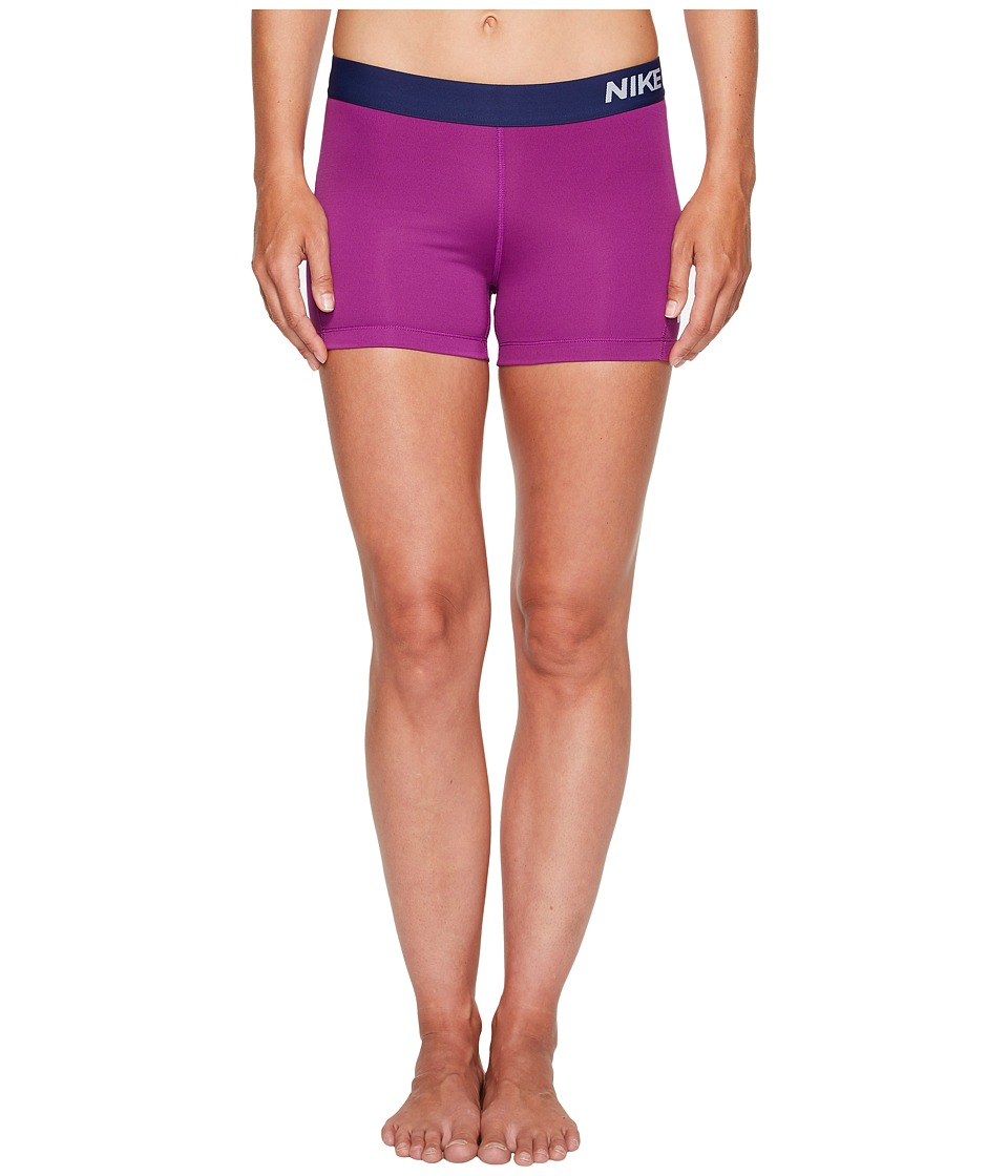 Nike Pro 3 Cool Compression Training Short (Bold Berry/Pure Platinum) Women