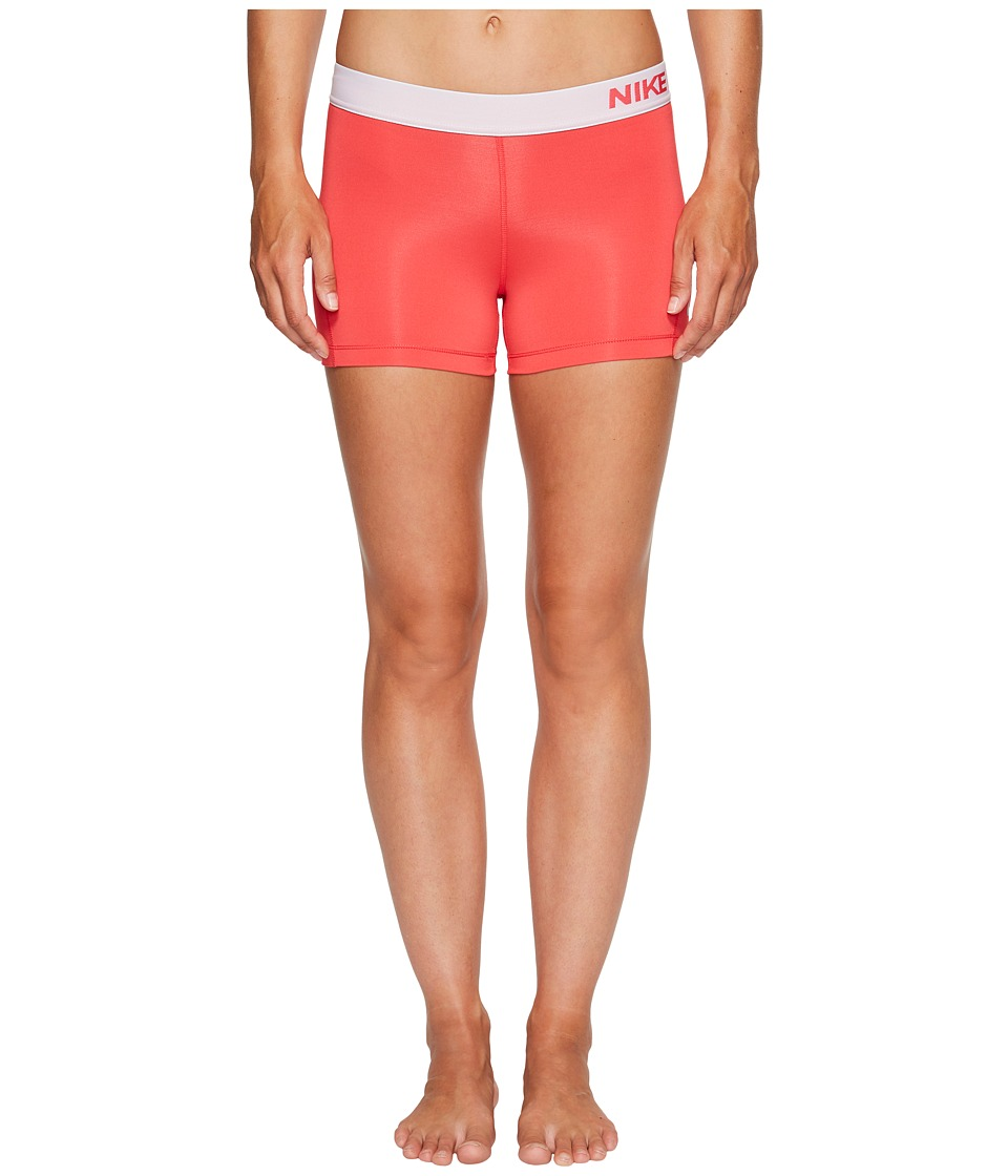 Nike Pro 3 Cool Compression Training Short (Light Fusion Red/Pure Platinum) Women
