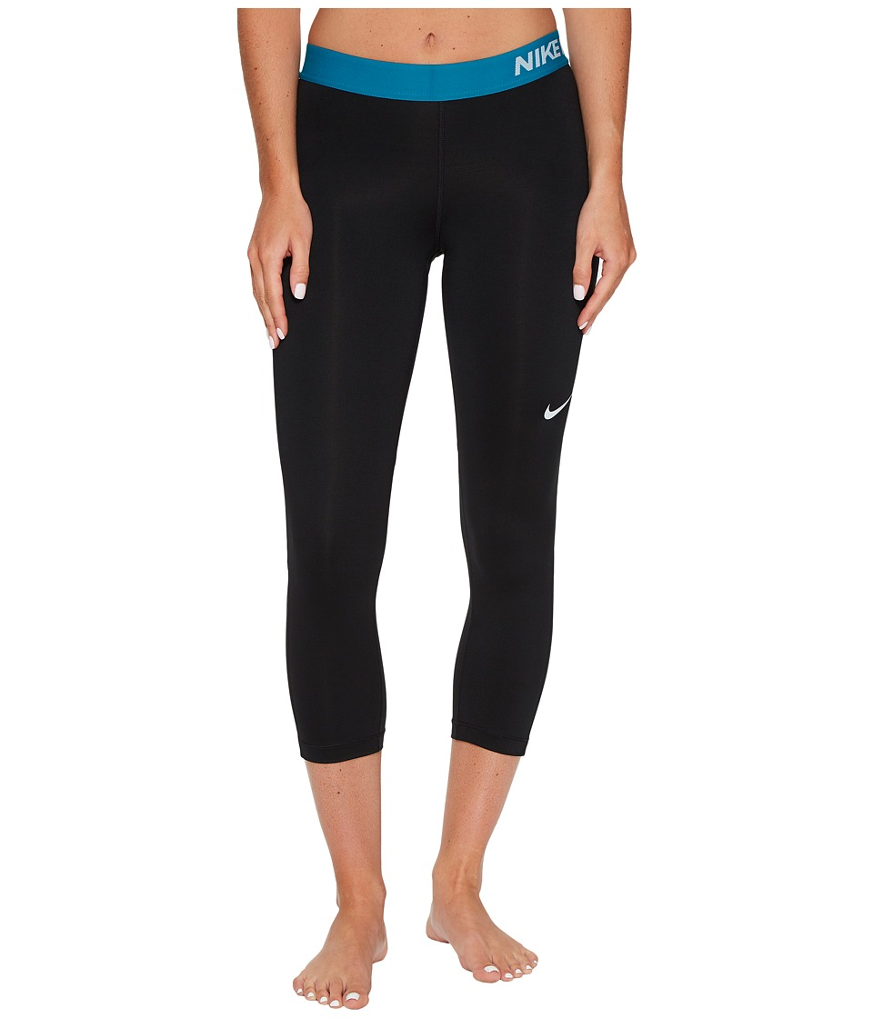 Nike Pro Cool Capris (Black/Blustery/Pure Platinum) Women