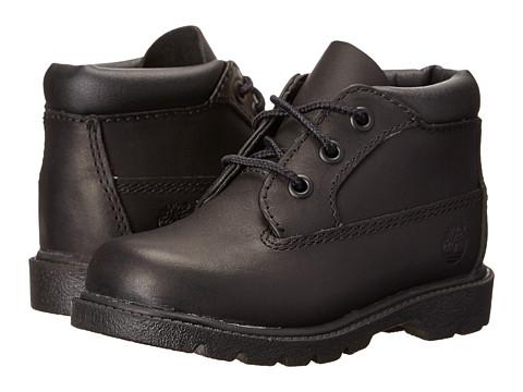 Timberland Kids 3 Eye Chukka (Toddler/Little Kid) - Black Full Grain Leather