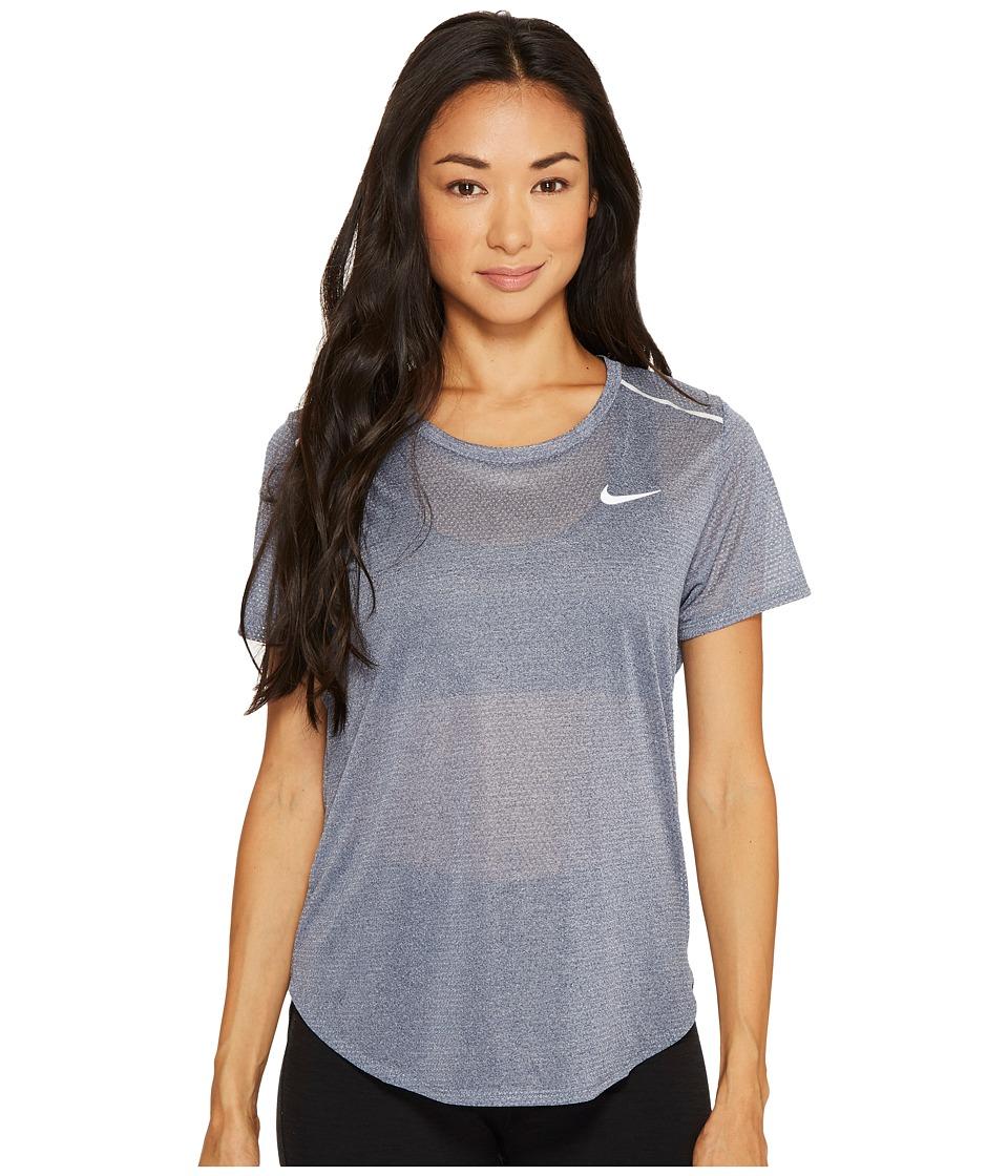 Nike Breathe Running Top (Thunder Blue/Heather) Women