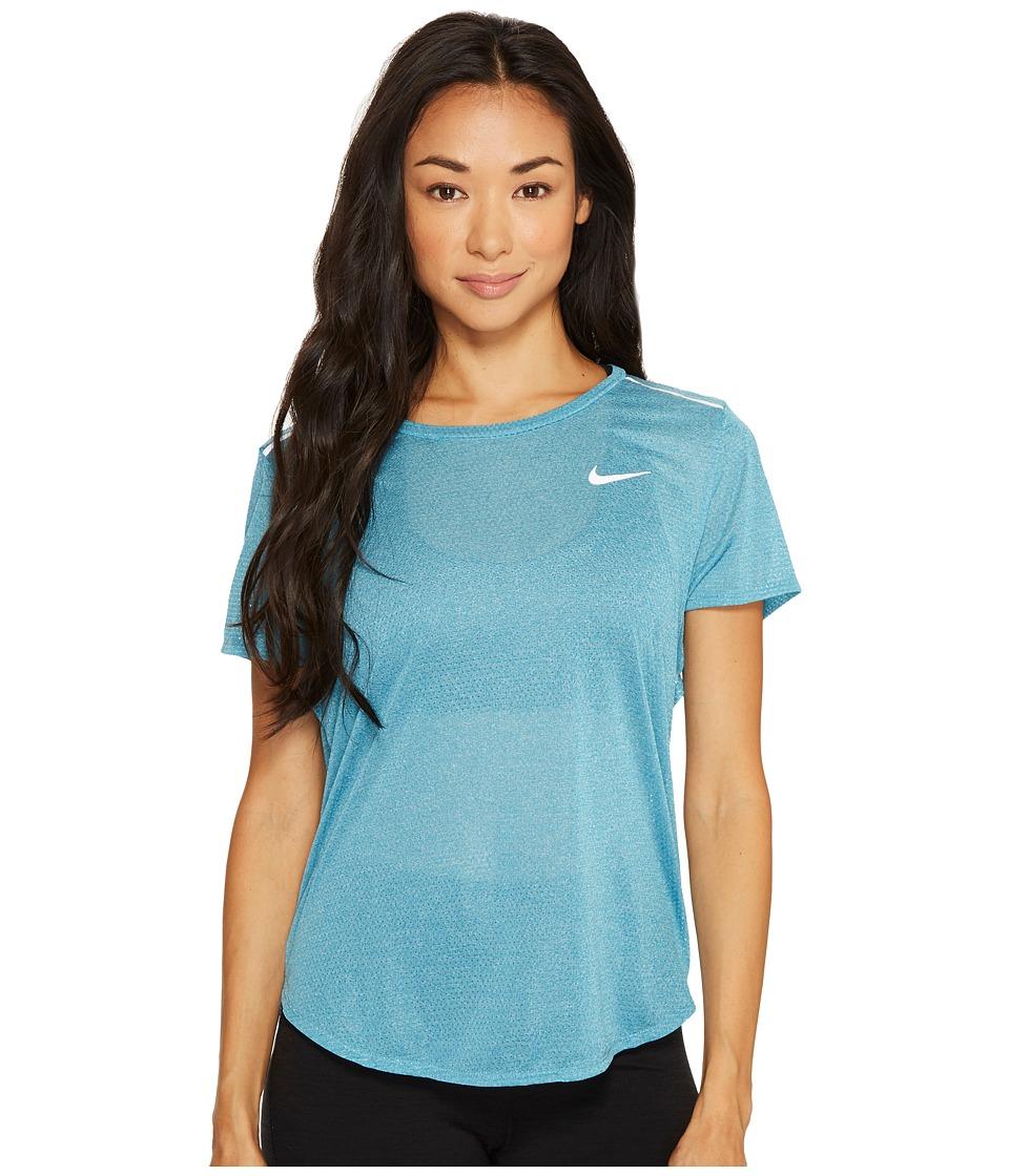 Nike Breathe Running Top (Blustery/Heather) Women