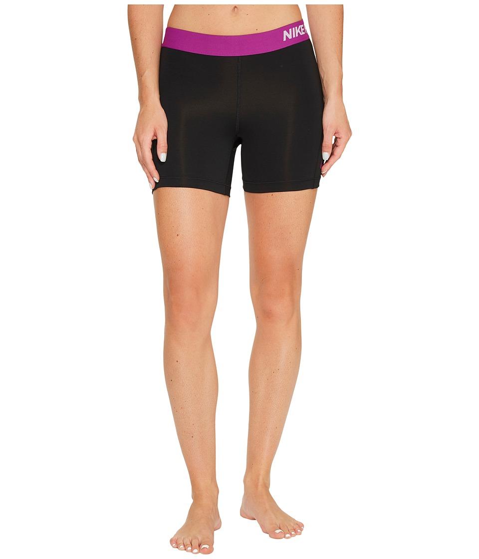 Nike Pro 5 Cool Training Short (Black/Bold Berry/Bold Berry) Women
