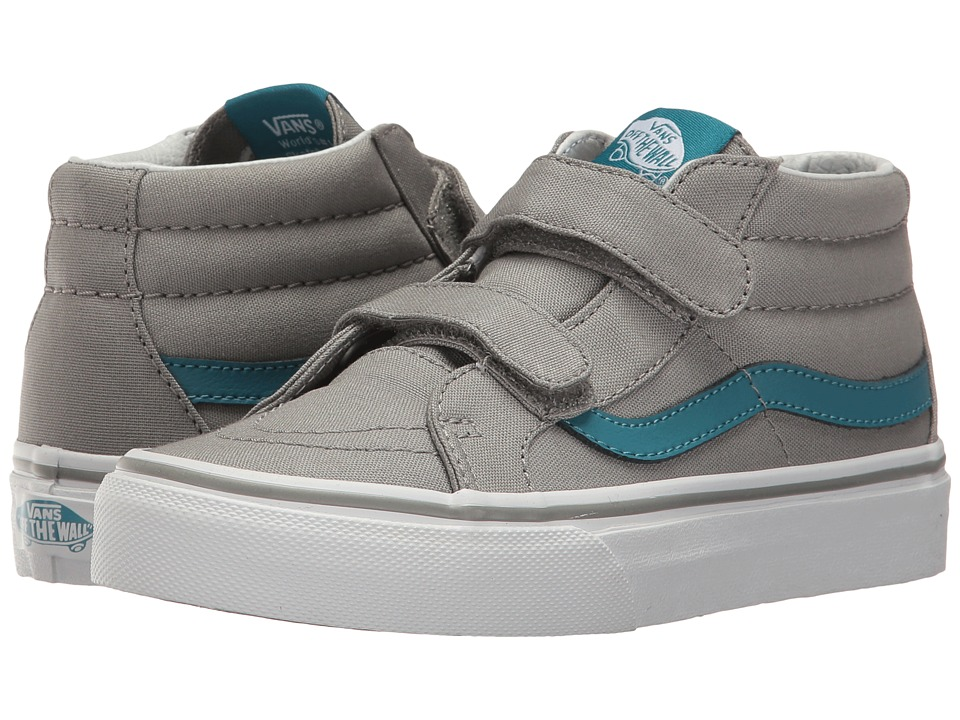 Vans Kids SK8-Mid Reissue V (Little Kid/Big Kid) ((Canvas) Wild Dove/Larkspur) Boys Shoes