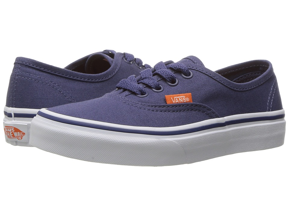 Vans Kids - Authentic (Little Kid/Big Kid) ((Pop Canvas) Crown Blue/True White) Boys Shoes