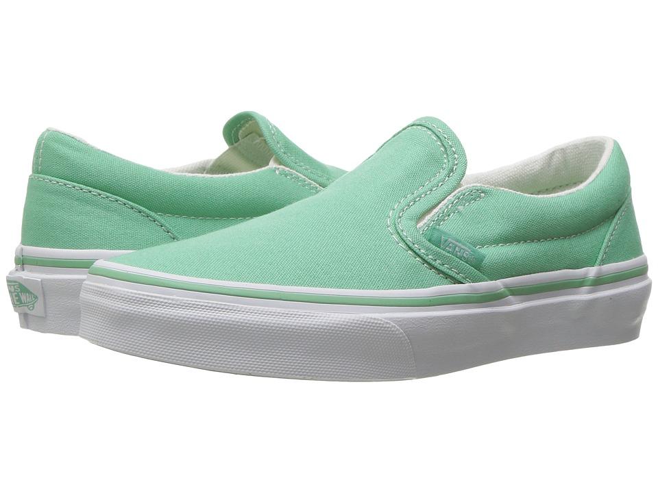 Vans Kids Classic Slip-On (Little Kid/Big Kid) ((Canvas) Neptune/True White) Girls Shoes