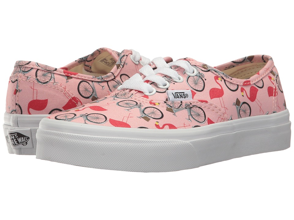 Vans Kids Authentic (Little Kid/Big Kid) ((Spring Multi) Tropical Peach/True White) Girls Shoes