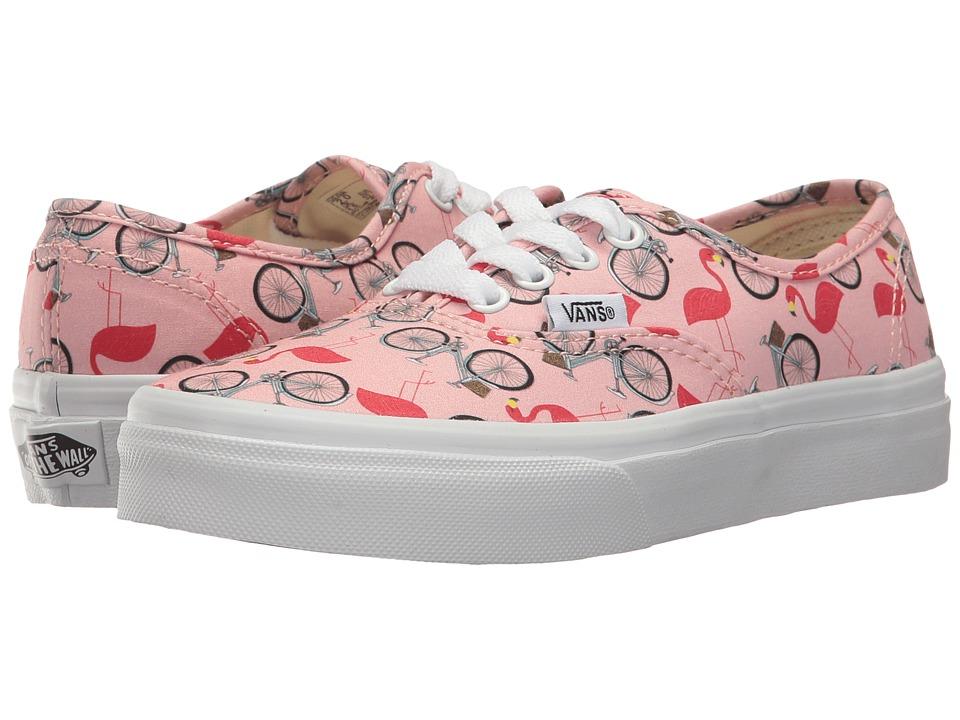 Vans Kids Authentic (Little Kid/Big Kid) ((Spring Multi) Tropical Peach/True White) Girls Shoes