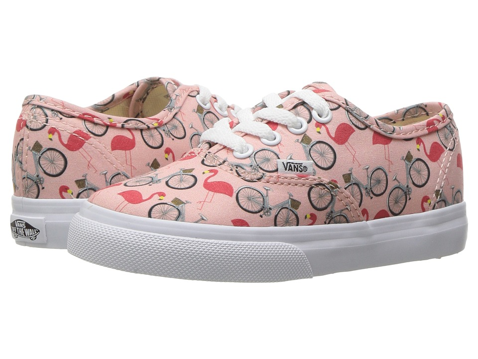 Vans Kids Authentic (Toddler) ((Spring Multi) Tropical Peach/True White) Girls Shoes