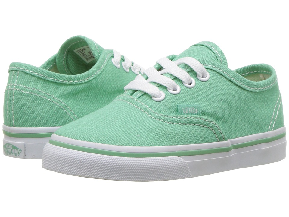 Vans Kids Authentic (Toddler) ((Canvas) Neptune/True White) Girls Shoes
