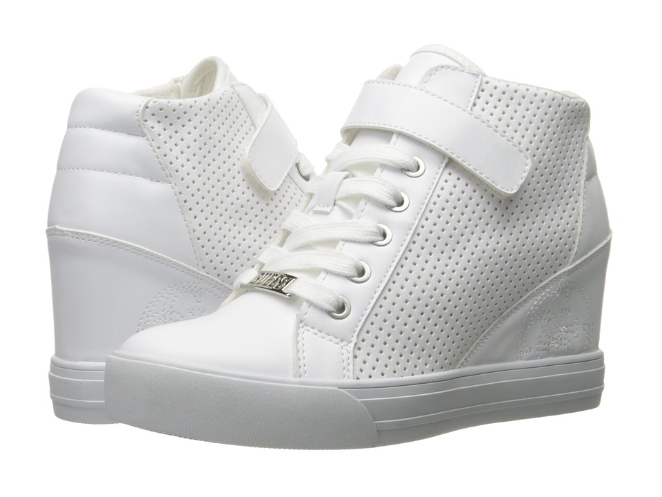 GUESS Decia 2 (White) Women's Lace-up Boots
