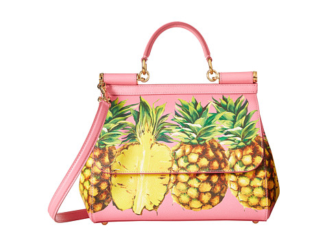 Dolce & Gabbana Pineapple Medium Miss Sicily Bag