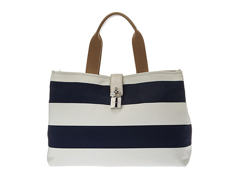 Dolce & Gabbana Striped Dolce Shopping Canvas Tote