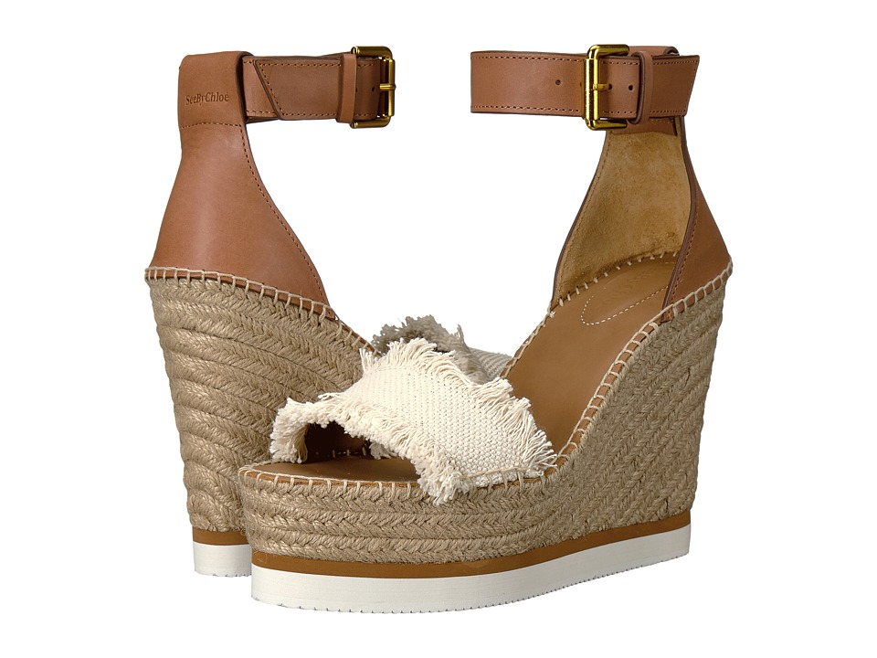 See by Chloe SB28152 (Sole Tan Big Canvas/Vegetal Calf) Women