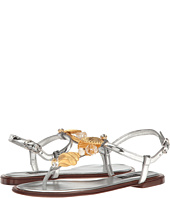 Dolce & Gabbana - Metallic Thong Sandal with Seashell Jewels