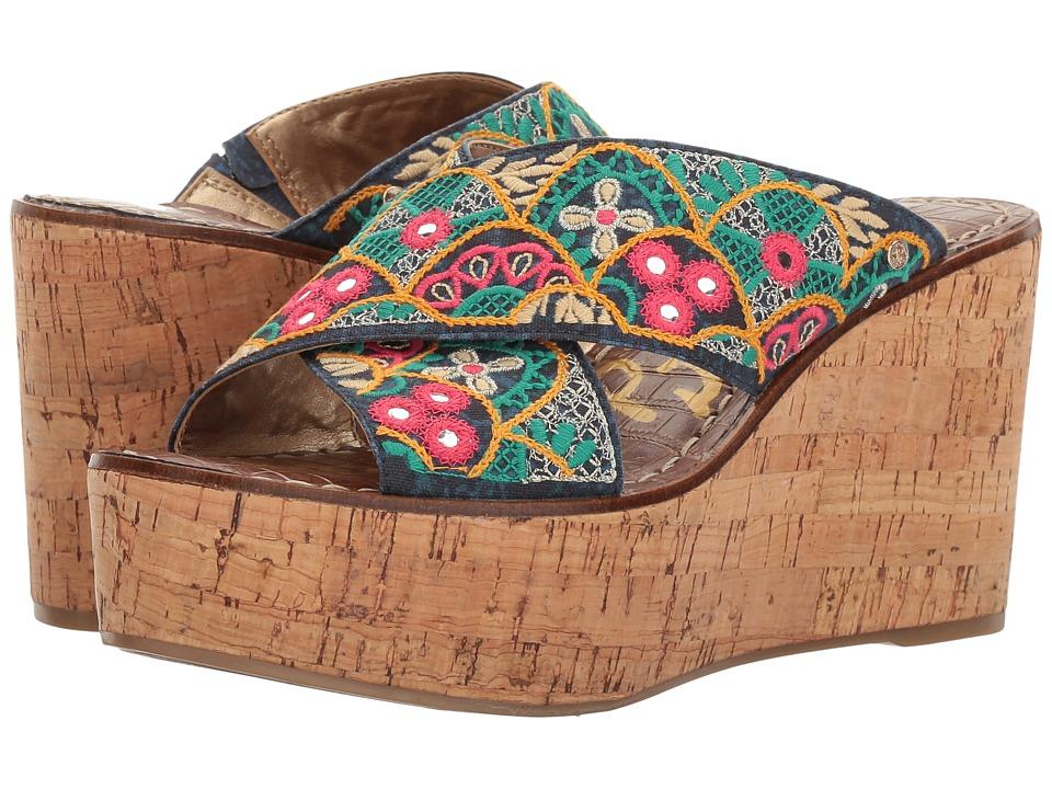 Sam Edelman - Darlene 2 (Indigo Multi Batik Ibiza Print) Womens Shoes