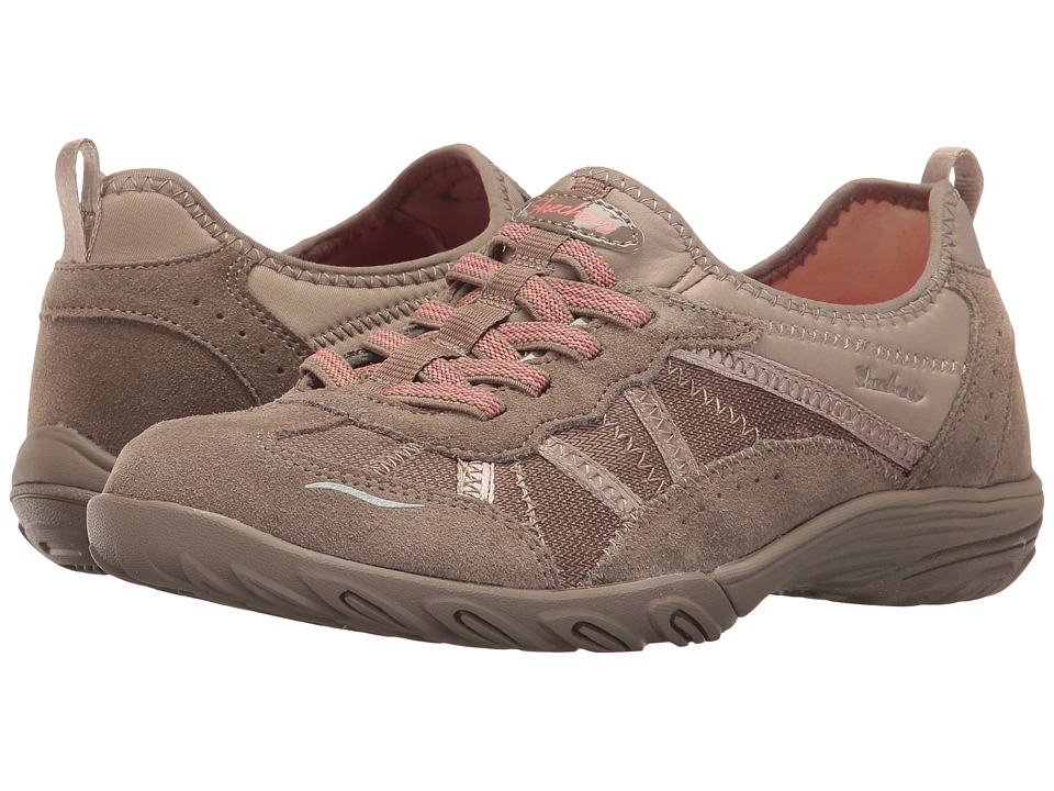 Skechers Empress (Taupe) Women's Lace up casual Shoes