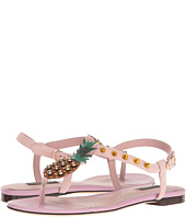 Dolce & Gabbana - Suede Thong Sandal with Pineapple Detail