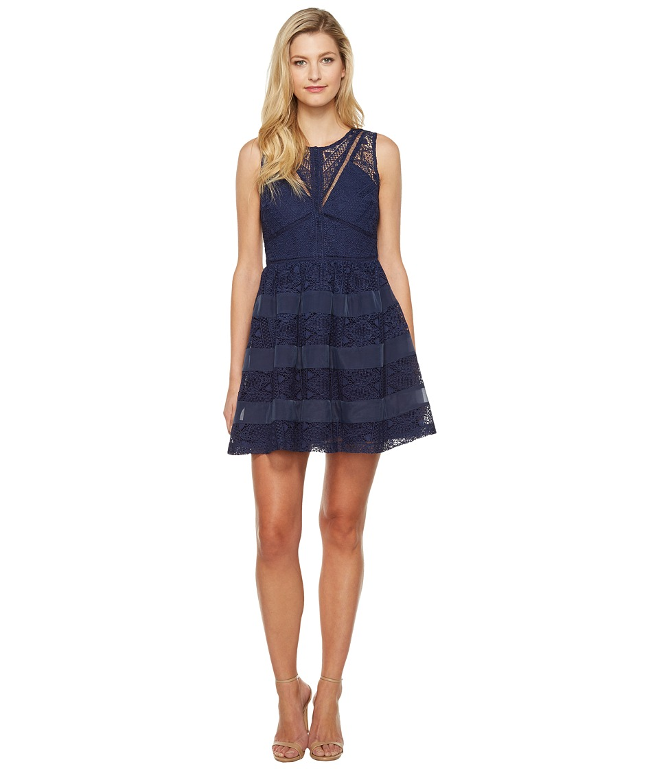 Adelyn Rae - Marissa Woven Lace Fit and Flare