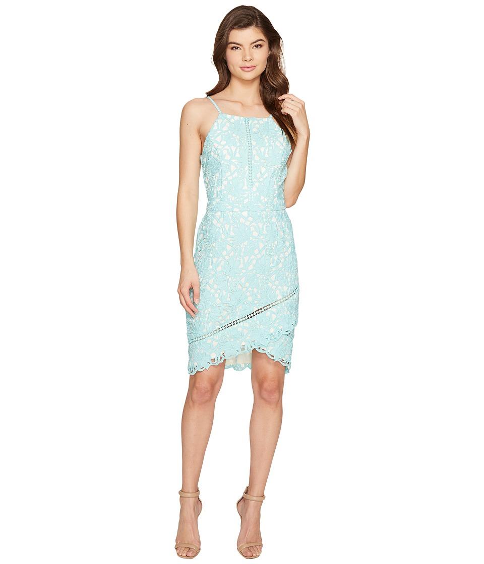 Adelyn Rae Sabina Woven Lace Sheath Dress (Aqua) Women