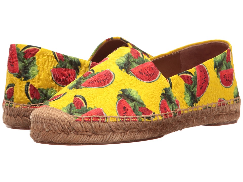 Dolce & Gabbana Brocade Watermelon Print Espadrille (Yellow) Women