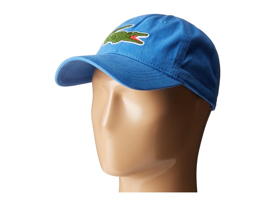 Lacoste Big Croc Gabardine Cap (Thermal Blue) Baseball Caps
