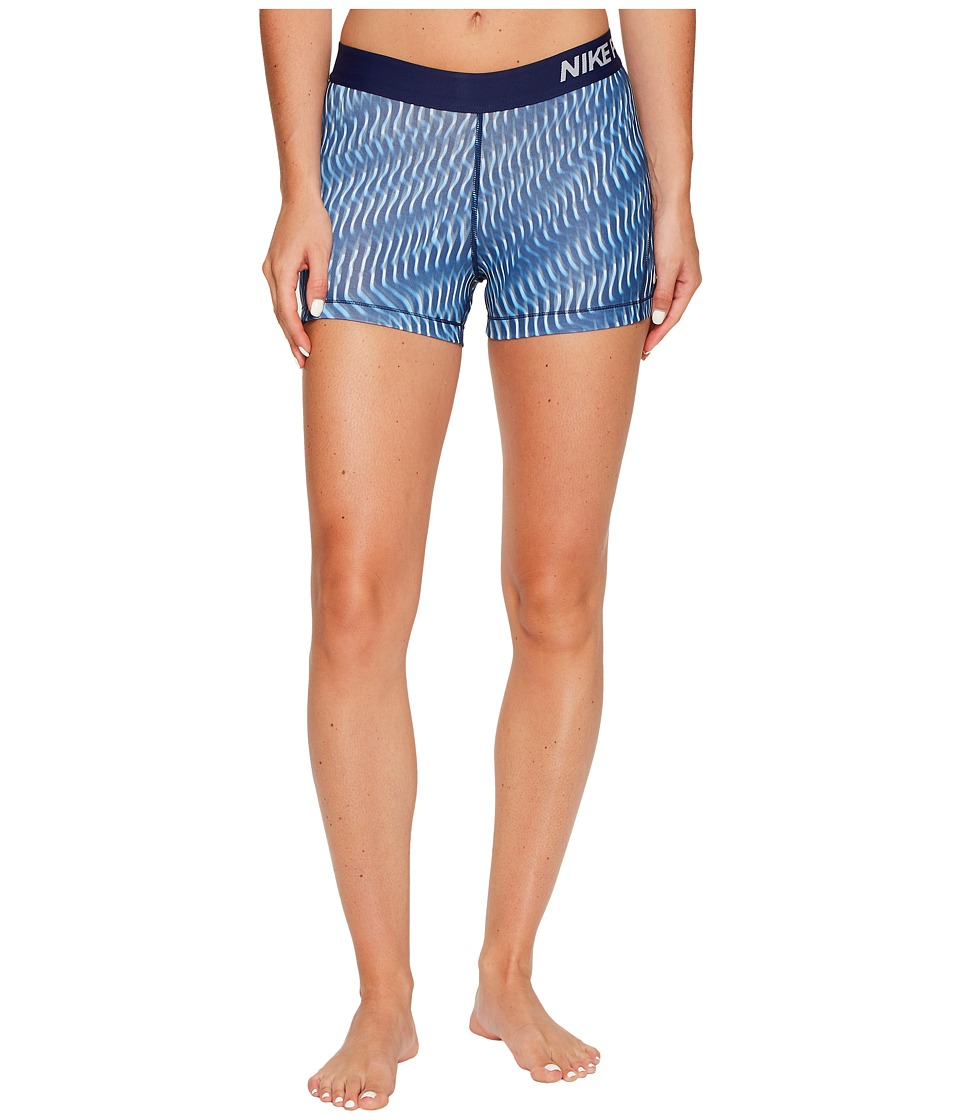 Nike Pro Wave Print Training Short (Binary Blue/Light Armory Blue/White) Women