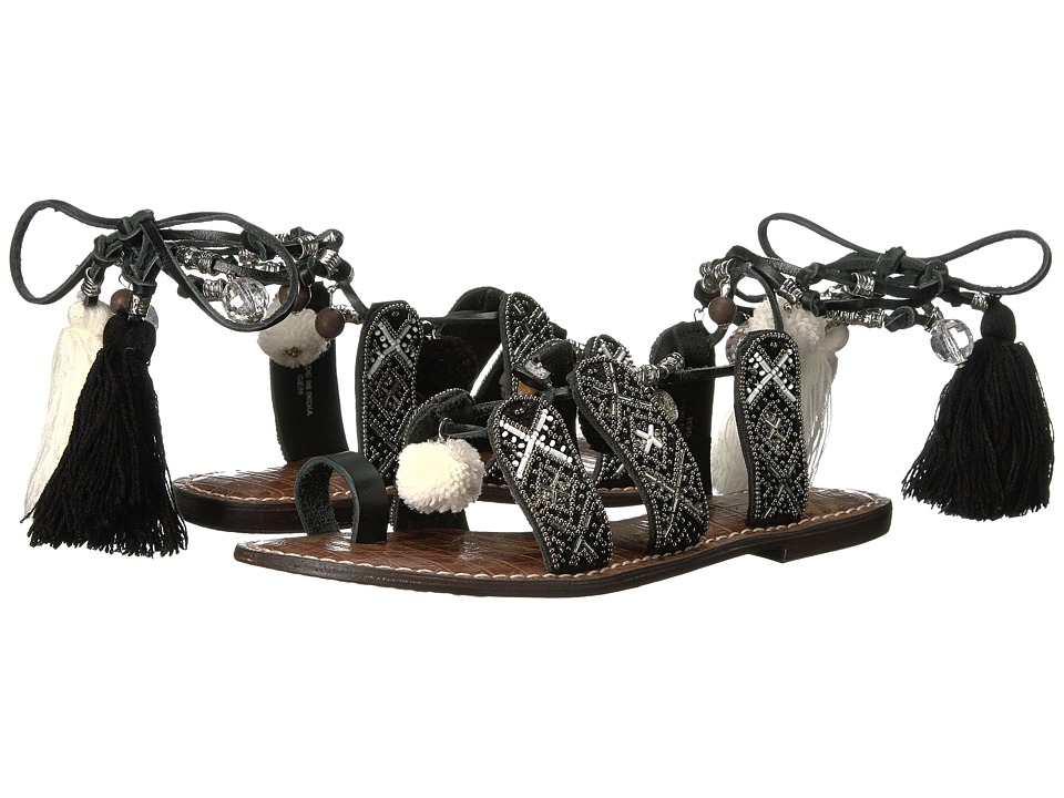 Sam Edelman - Gem (Silver Multi Pom Pom/Tassel/Veg Leather) Womens Shoes