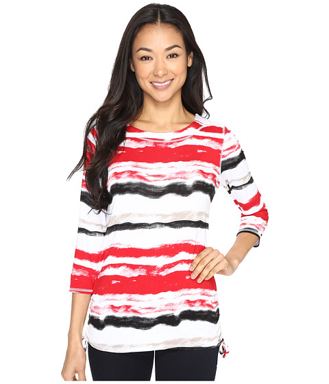 FDJ French Dressing Jeans Water Color Stripe Top - Red Multi