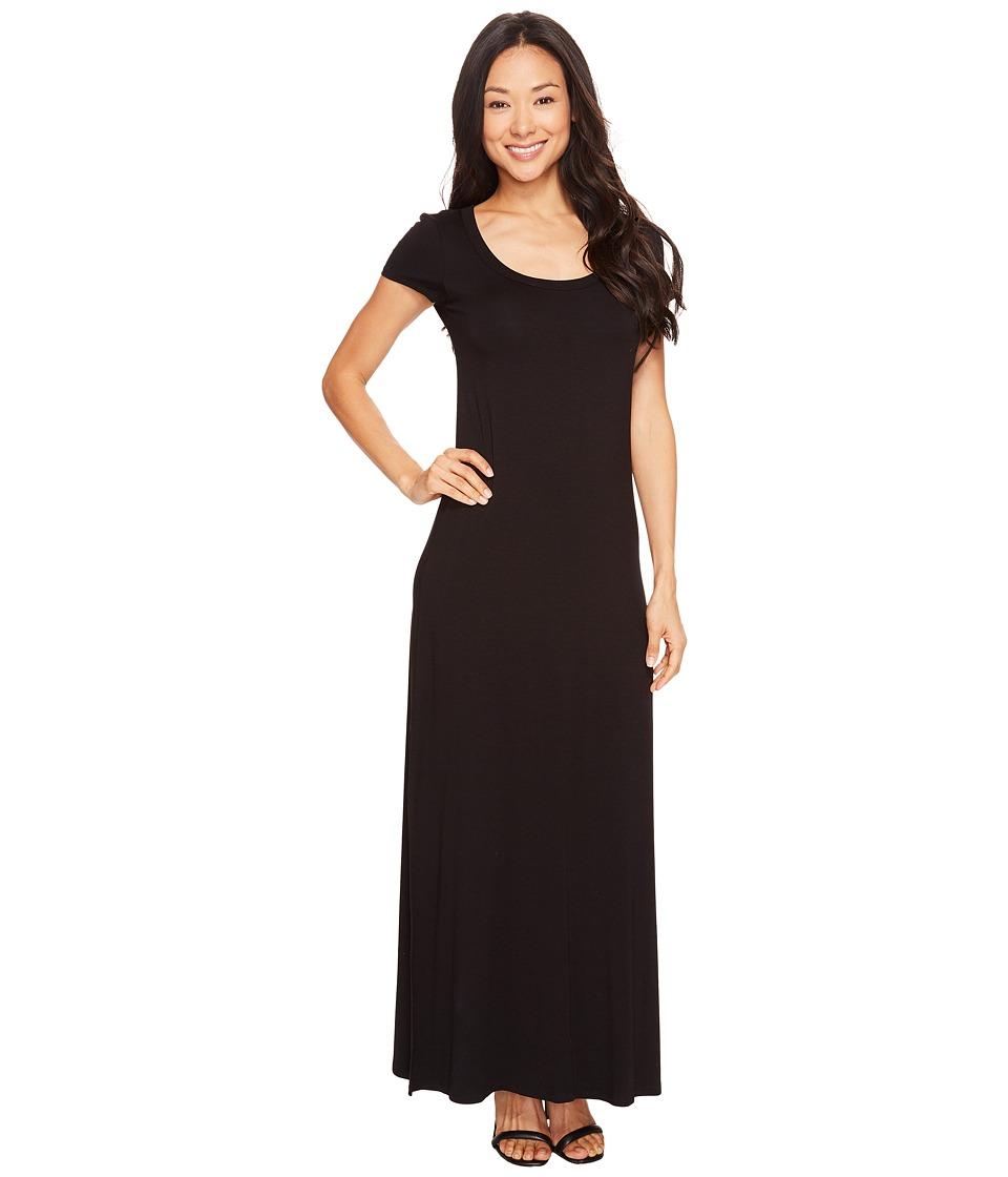 Karen Kane Cap Sleeve Maxi Dress (Black) Women